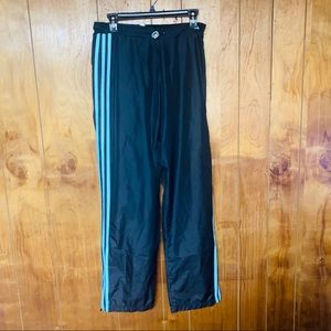 Adidas Black Windbreaker Athletic Track Pants M